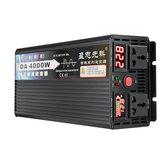 Convertisseur de tension d'inverseur à onde sinusoïdale pure de 4000W DC12V / 24V / 48V / 60V À 220V