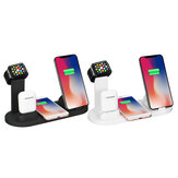 Bakeey 4 in 1 10W Wireless شاحن Multi وظيفة شاحن for Apple هاتف Watch