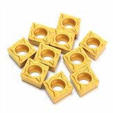 Machifit 10 pcs CCMT060204-HM YBC251 Carbide Insert Titanium Coated Carbide Cutter
