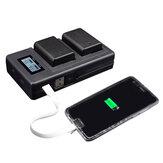 Palo FW50-C USB аккумуляторная Батарея Зарядное устройство для мобильного телефона Power Bank для Sony NP-FW50 DSLR камера Батарея с индикатором LED