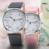 Cute Cat Wzór Fashion Leather Women Quartz Watch