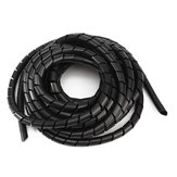 Black Spiral Polyethylene Cable Electrical Wire Wrap Tube Computer Manage Cord