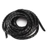 Черный спираль полиэтилена кабель электрический провод обертка трубка компьютер управления кабель