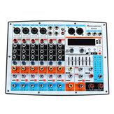 WENYANWEN DDM8X 4 canaux 7 bandes EQ principal 16 effets DSP Mixeur audio Bluetooth Live Studio Console de mixage audio