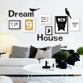 3D Dream House Multi-couleur Bricolage en forme de miroir Stickers muraux Home Wall Bedroom Office Decor