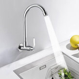 360 Degree Rotation Single Cold Faucet Brass Kitchen Sink Vertical Faucet