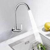 Rubinetto verticale in ottone per lavello da cucina con rubinetto a freddo a rotazione singola a 360 gradi