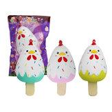 Sanqi Elan Civciv Popsicle Ice-lolly Squishy 12 * 6CM Lisanslı Yavaş Yükselen Soft Oyuncak Paketli
