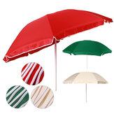 6.6Ft Outdoor Patio Umbrella 55.1-78.7inch Height Adjustable Beach Solar Umbrella with Crank Outdoor Camping Travel