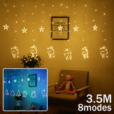 3.5M 138LED Gordijn Fairy Light 8 Modi Muur String Lamp Christmas Party Home Decor EU Plug AC220V
