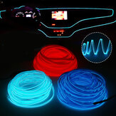 DC12V LED Car Interior Atmosphere Glow EL Wire Neon Strip Light Rope Tube lampada