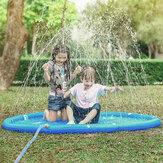 170 cm oppustelig sprayvandmåtte sommer børns spilmåtte græsplæne sprinkler udendørs swimmingpool