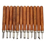 3/8 / 12Pcs Wood Carving Dłuto Zestaw narzędzi Wood Working Professional Gouges