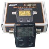 NISSEI RS-70デジタルSWR /パワーメータHF 1.6-60MHz 200W SO239 Mタイプコネクタ双方向ラジオSWRパワーメータトランシーバー