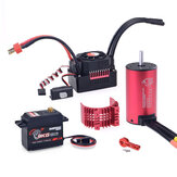 SURPASS HOBBY KK 3665 Brushless Motor 2900KV e 80A Brushless ESC 9KG Metal Gear Digital Servo RC Car Peças