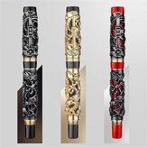 Caneta-tinteiro Jinhao 0.5mm Nib Dragão Caligrafia Presente Empresarial Canetas de Tinta de Escrever Assinatura Material de Papelaria para Escritório