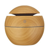 LED Colorful Humidificateur USB à grain de bois intelligent Humidificateur d'air à ultrasons Diffuseur d'huile essentielle Aroma