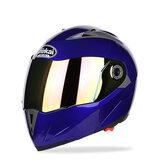 Capacete de motocicleta JIEKAI JK105 com capacete revelado com lente de revestimento duplo Bicicleta elétrica masculina anti-nevoeiro capacetes para todas as estações