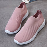 Sneakers slip-on da esterno in mesh da donna di grandi dimensioni