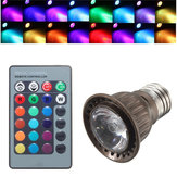 E27 3W RGB Remote Controlled Colorful changing LED Light Bulb AC 85-265V