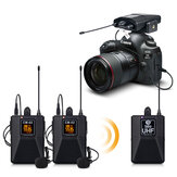 Debra CM Series CM-01/02 UHF Wireless Lavalier Microphone with 30 Selectable Channels 50m Range for DSLR Camera Interview Live recording