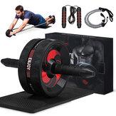 4 sztuk / zestaw Ab Roller trenażer mięśni brzucha wyciszenie brzuch trzymający rolka do ćwiczeń siłownia sprzęt do ćwiczeń w domu z skakanka mata gumka
