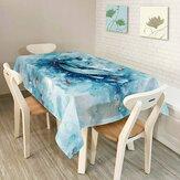 KCASA KC-TC2 Phong cách Mỹ Phong cảnh sáng tạo Colorful Khăn trải bàn Không thấm nước Dầu Trà Khăn trải bàn Trang trí tiệc