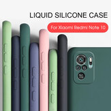 Bakeey for Xiaomi Redmi Note 10 / Redmi Note 10S Case Smooth Shockproof with Lens Protector Soft Liquid Silicone Rubber Protective Case Non-Original