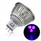3W MR16 LED Ultraviolet Kleur Paars Licht Zaklamp Lamp Torch AC / DC 12V