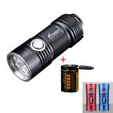 Lanterna Fitorch P25 4x XPG3 3000LM poderosa EDC LED com 26350 USB de carregamento Li-ion Bateria Mini tocha à prova d'água IPX8