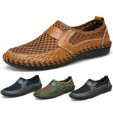 Grosse taille Mains à main Coutures gonflables Honeycomb Mesh Mocassins Flats