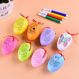 Easter Decorations DIY Hand Painting Eggs Mixed Color Artificial Eggs Kids Toy for Home Office