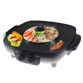 1600W 220V Electric Hot Pot Grill Hotpot Piec bezdymny BBQ Cooking Pan Cookware