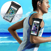 Universal Airbag Floating Waterproof Screen Touch Earphone Hole Arm Bag Phone Bag for Samsung Xiaomi