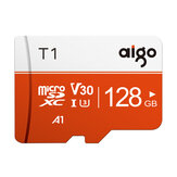 Aigo T1 High Speed 128GB Class 10 SD/TF Memory Card Flash Drive With Card Adapter For Smartphone Tablet Switch Speaker Drone Car DVR GPS Camera