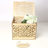 Greeting Card Box Wedding Decor Supplies Decorations Wooden Gift Case