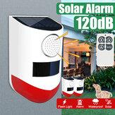 Водонепроницаемый LED Солнечная сигнальная лампа Беспроводная мигающая стена безопасности Лампа для На открытом воздухе Сад с Дистанционн