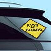 CRIANÇAS A BORDO Janela de carro de vinil Decalque Adesivo de segurança para crianças