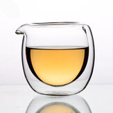 Jingdezheng 150ml Double Layer High Temperature Resistant Glass Tea Fair Cup Anti-hot Serving Cup