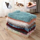 Kabarık Peluş Pet Battaniye Ekstra Soft Sıcak Pet Atmak Battaniye Pet Kedi Köpek uyku matı Yastık Yatak