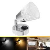 12V LED Lampada da lettura RV Trailer Boat Wall Mount Book lampada