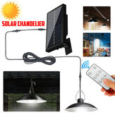 Solar LED Pendant Light Outdoor Flood Hanging Garden Lamp + Remote Waterproof White Light