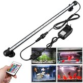 4.5W 60CM Submersible Remote Control/Button 60CM 30 LED RGB Night Lamp for Aquarium Fish Tank Pond