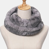 Unisex Plush Plus Thicken Warm Casual Snake Pattern All-match Neck Protection Scarf