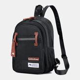 Heren Nylon Waterdichte multi-carry crossbody tas Borsttas Sling Bag Backpack