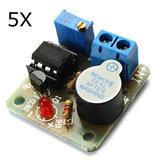 5Pcs 9V 12V Bateria Módulo de proteção de alarme de som e luz contra placa de descarga excessiva