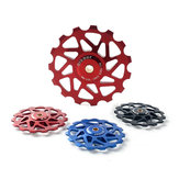 Qikour CNC MTB Bicycle Rear Derailleur 13T Pulley Wheel With Bearing Cycling Mountain Bike Guide