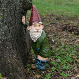 Resin Funny Naughty Garden Gnome for Lawn Indoor or Outdoor Decorations
