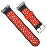 22mm Replacement Breathable Round Hole Silicone Watch Strap
