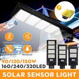 90/120 / 150W 160/240 / 320LED Solar Street Light Radar PIR Kinkiet z czujnikiem ruchu W / Remote